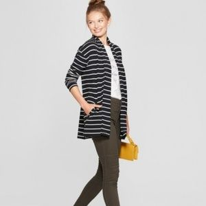 Striped Open Knit Cardigan - A New Day